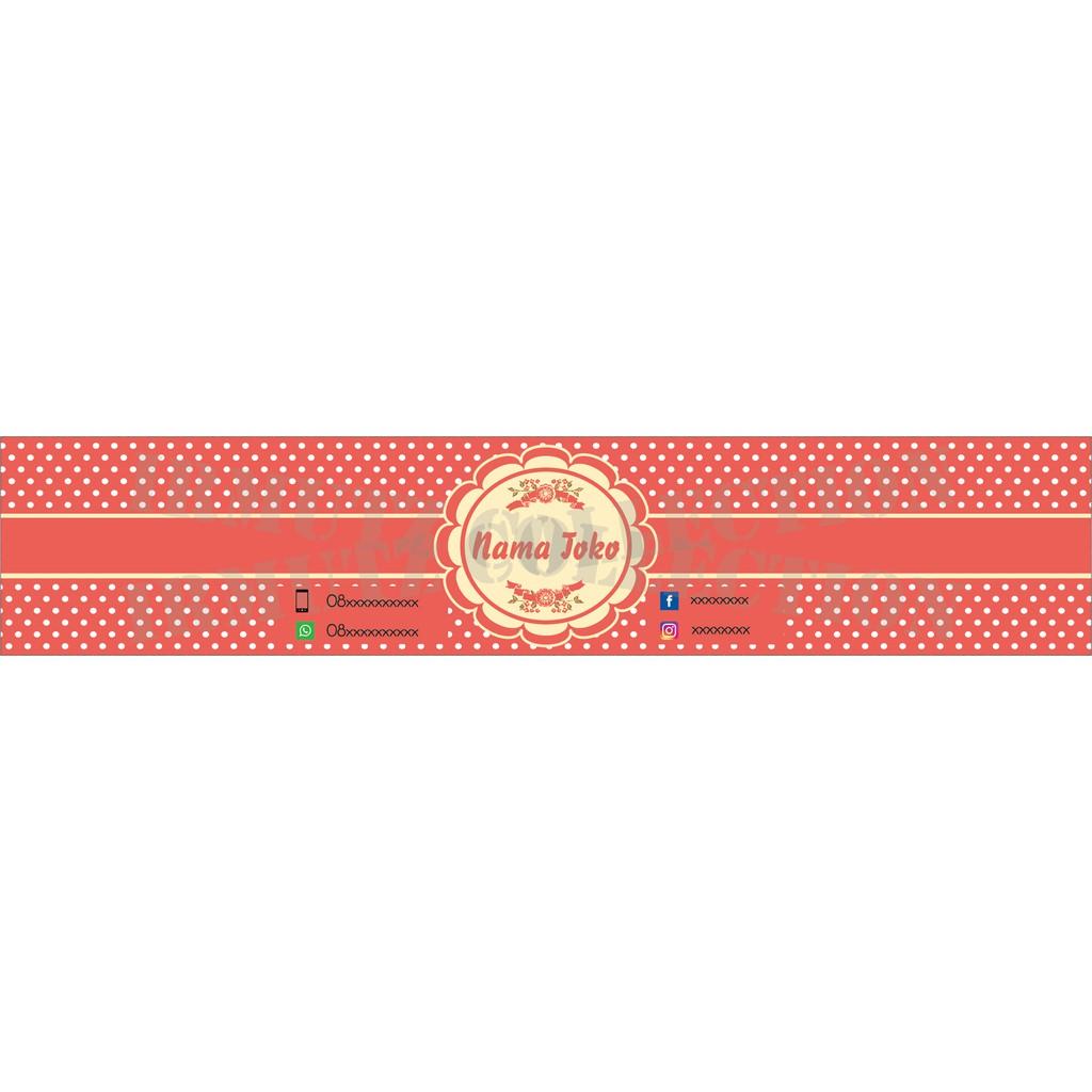 Roll Hijab/ Roller Jilbab / Label Pengikat Kerudung Desain No. 11