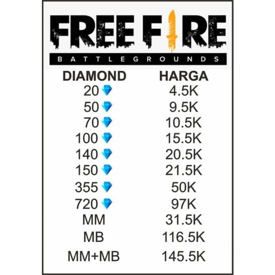 Top Up Diamond/DM FREEFIRE Resmi dan MURAH