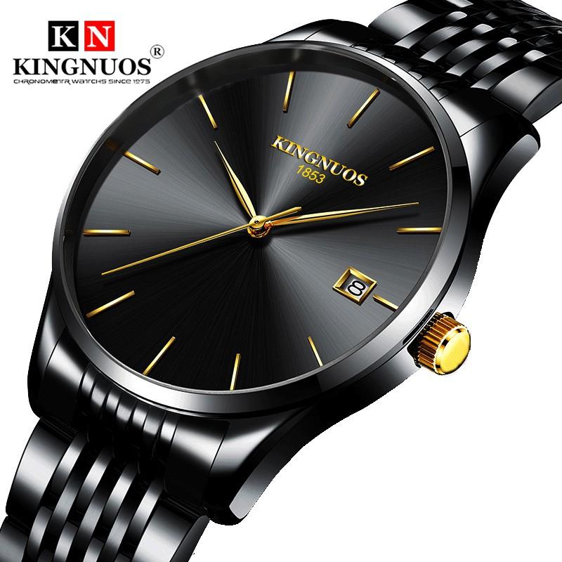 Jam Tangan Pria KINGNUOS K-128 Fashion Elegant Business Waterproof Quartz  Ultra-thin Wrist 254fcde4d6