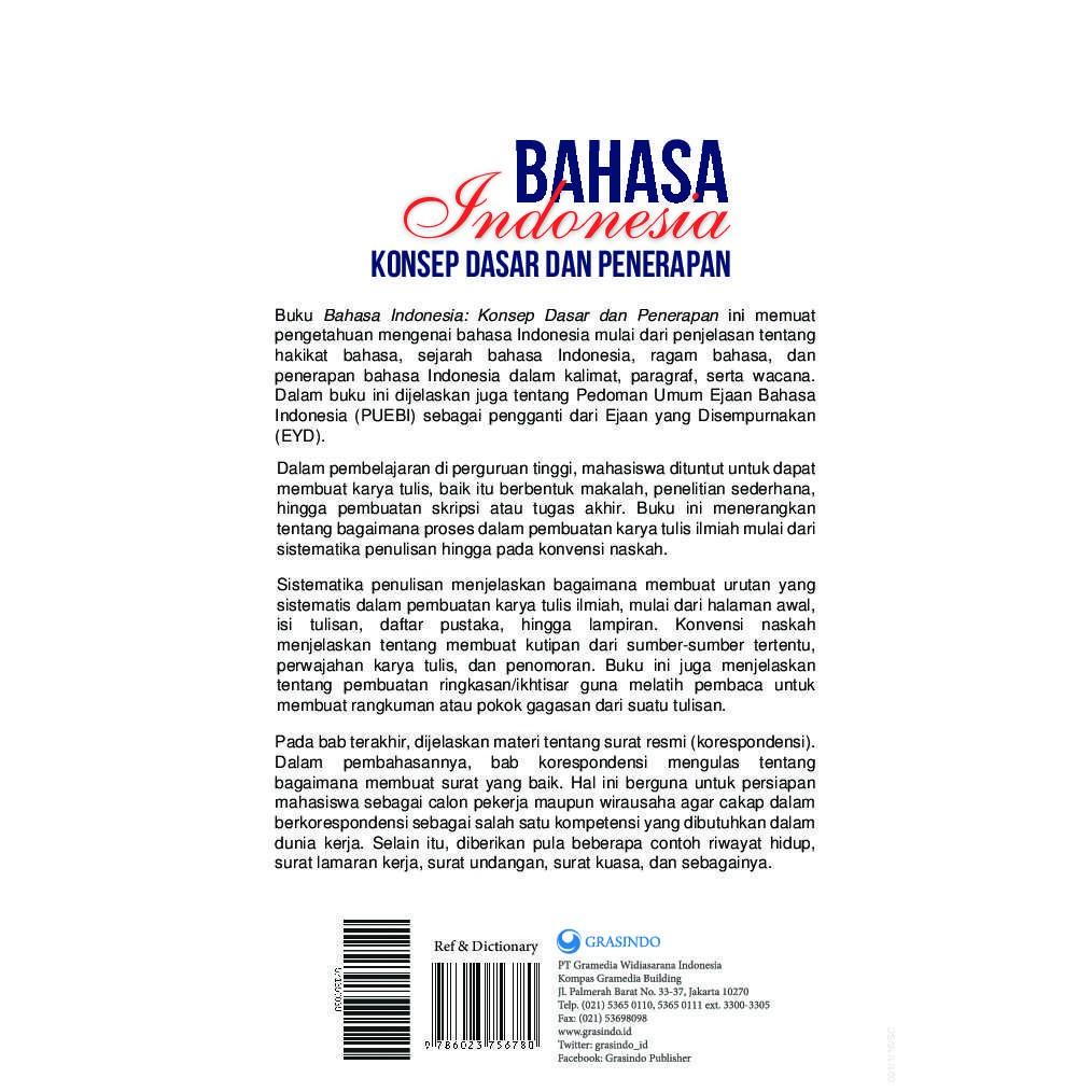 Buku Bahasa Indonesia Konsep Dan Penerapan Puebi Buku Sastra