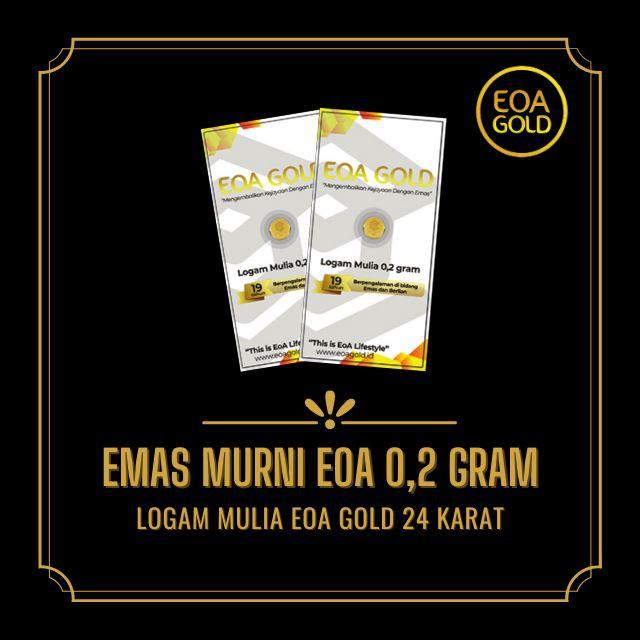LOGAM MULIA EMAS ANTAM HARI INI/LOGAM MULIA ANTAM 0.2 GRAM/EOA GOLD LAMPUNG/EMAS EOA MINI GOLD