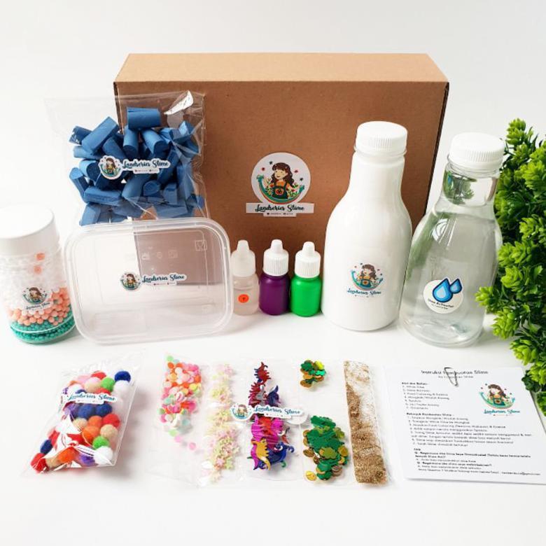 Ready Diy Mini Slime Kit By Landseries Slime | Bahan Slime