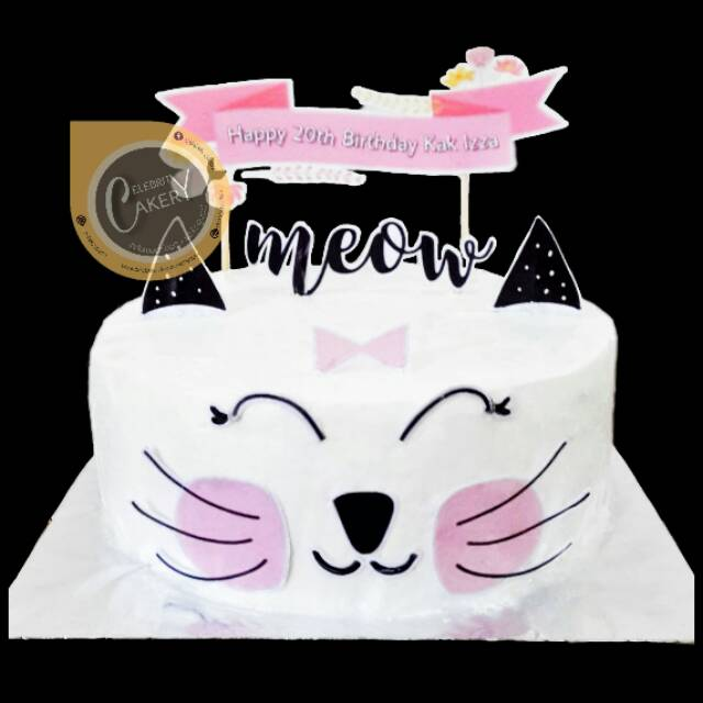 Cake Kue Ultah White Kitty