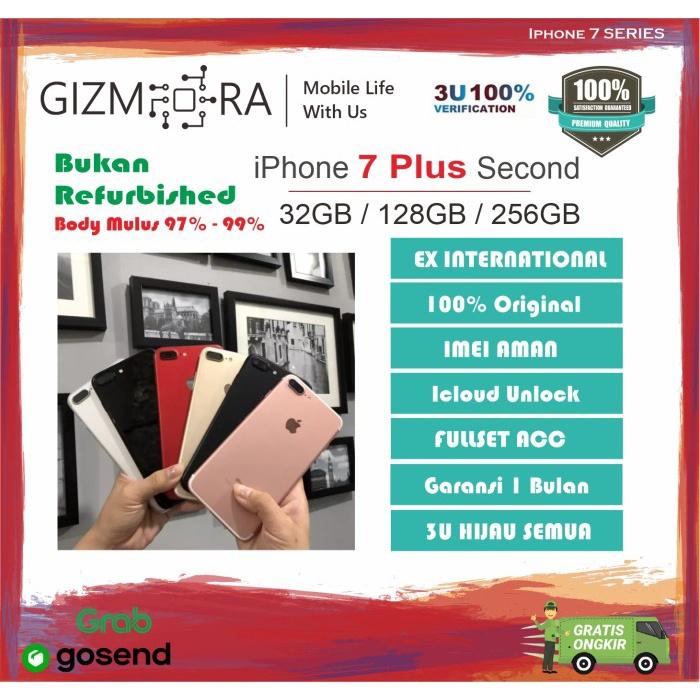 iPhone 7 Plus 32GB / 128GB / 256GB Seken Second Ex International Ori Fullset Mulus - iPhone Second