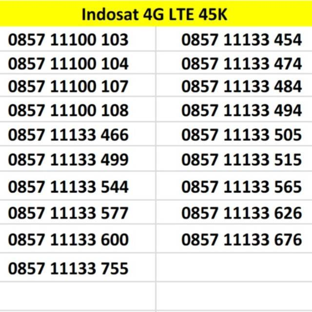 Nomor Cantik Indosat 10 digit Kartu Perdana 4G LTE Ooredoo   Shopee Indonesia