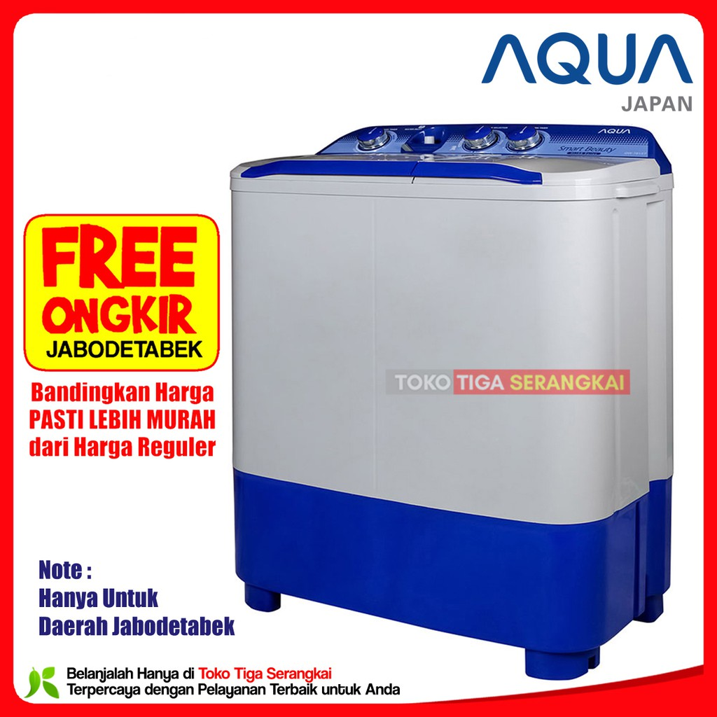 Mesin Cuci Aqua Qw 751 Xt Kaps 7kg Jabodetabek Shopee Indonesia Sharp Puremagic 2 Tabung Es T65mw Bk 65 Kg Biru