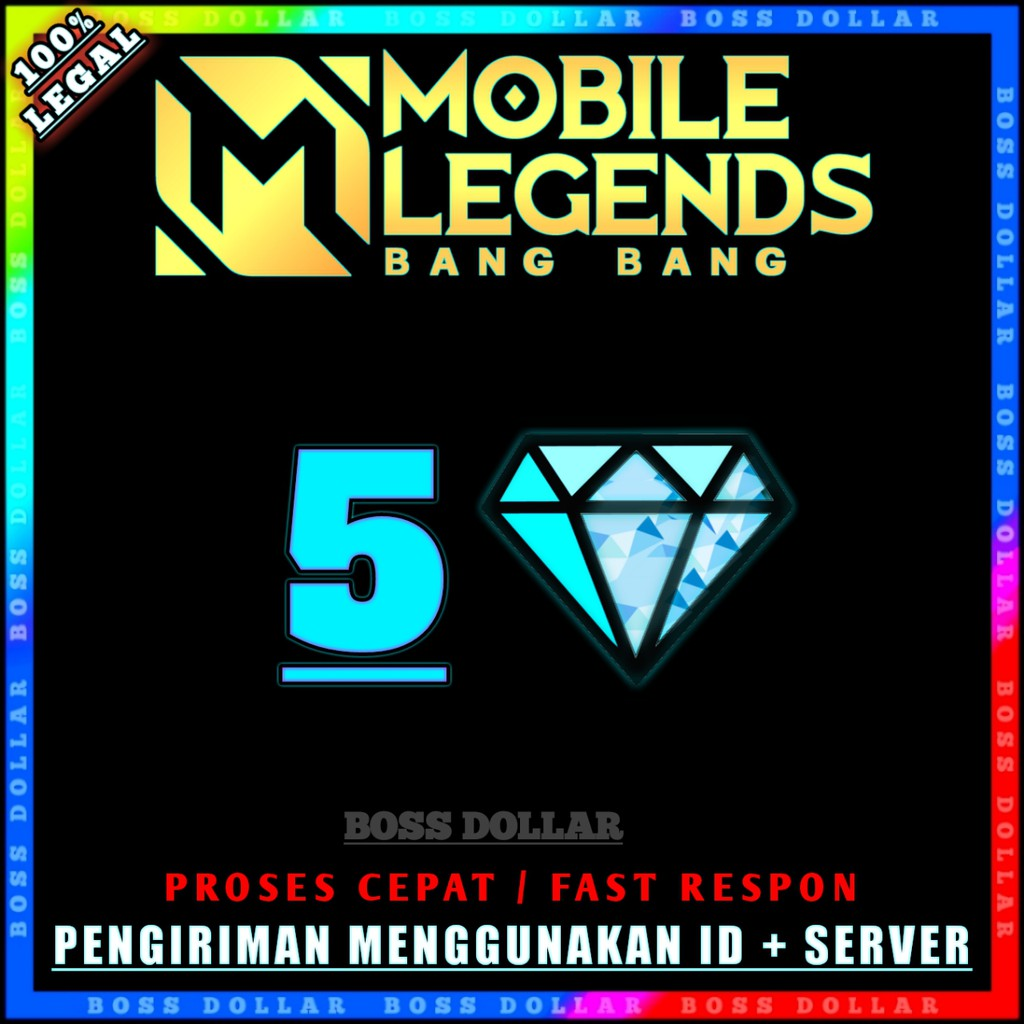 TOP UP DIAMOND MOBILE LEGENDS TERMURAH / DM ML / 5 DIAMOND #C