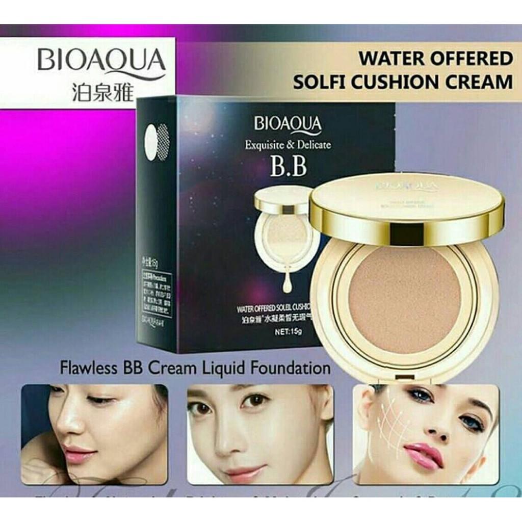 Bioaqua Bb Exquiste Cushion Bonus Refill Shopee Indonesia No 2 Dus Putih Cream Air