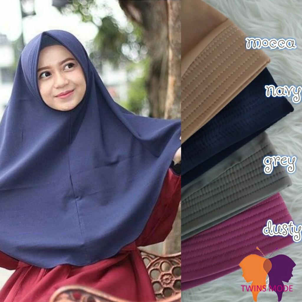 PROMO MURAH Bergo Syari Khimar Syari Kerudung Hijab Jilbab Bergo Jumbo Besar Syari Rempel W | Shopee Indonesia