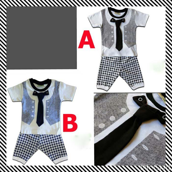 Baju Bayi Laki Laki Ozuka Baby Setelan Baju Kondangan Bayi Dasi e2d74c183b