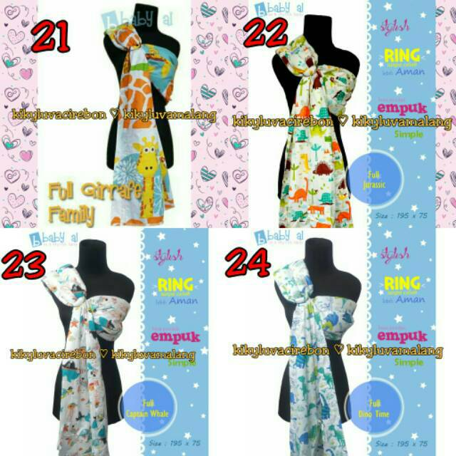 [PART 1] GENDONGAN SAMPING RING SLING BABY AL FULL MOTIF | Shopee Indonesia