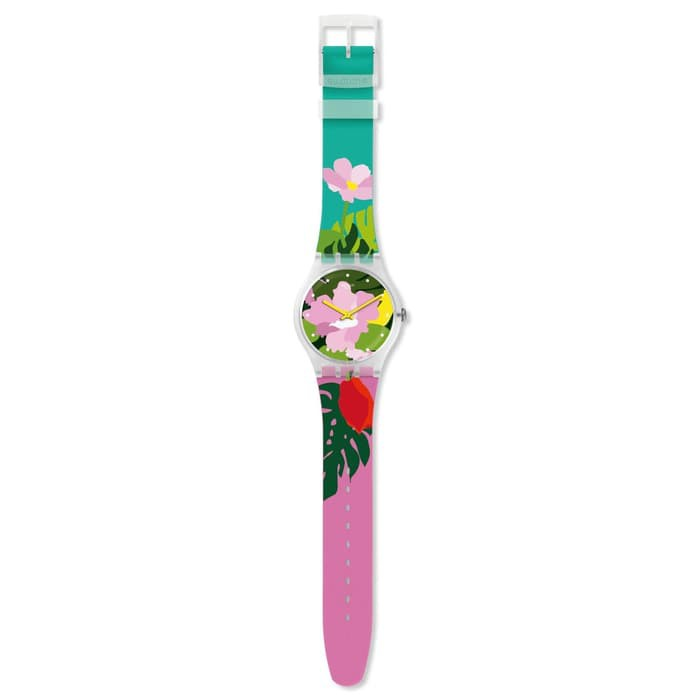 Jam Tangan Swatch Original Tropical Garden Watch SUOK132 | Jam ...