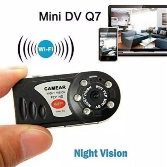 Q7 WiFi HD Camera Wireless IP Cam Mini DVR Night Vision Infrared Video Recorder