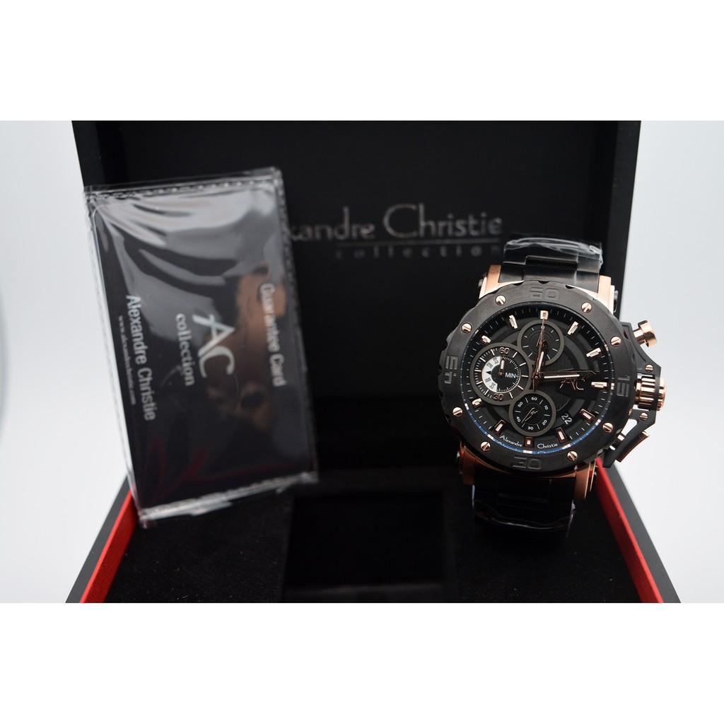 Alexandre Christie Ac Collection 9205 Silver Black Shopee Indonesia Jam Tangan Pria Ac6195 Original