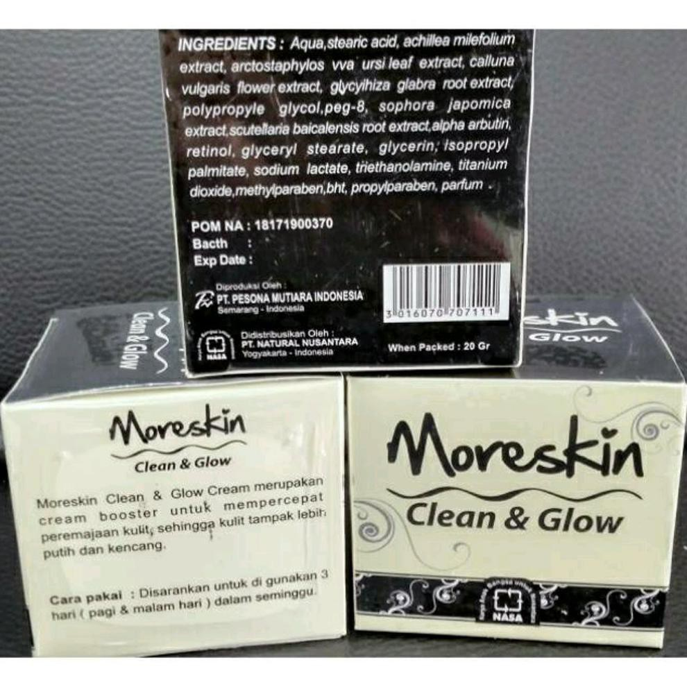 Dijual Moreskin Clean Glow Cream Herbal Nasa Original Diskon Shopee Indonesia
