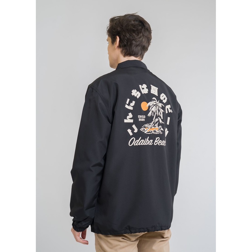 Erigo Coach Jacket Odaiba Black #1