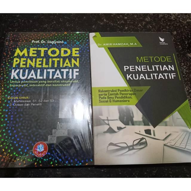 Paket 2 Buku Metode Penelitian Kualitatif Sugiyono Amir Hamzah
