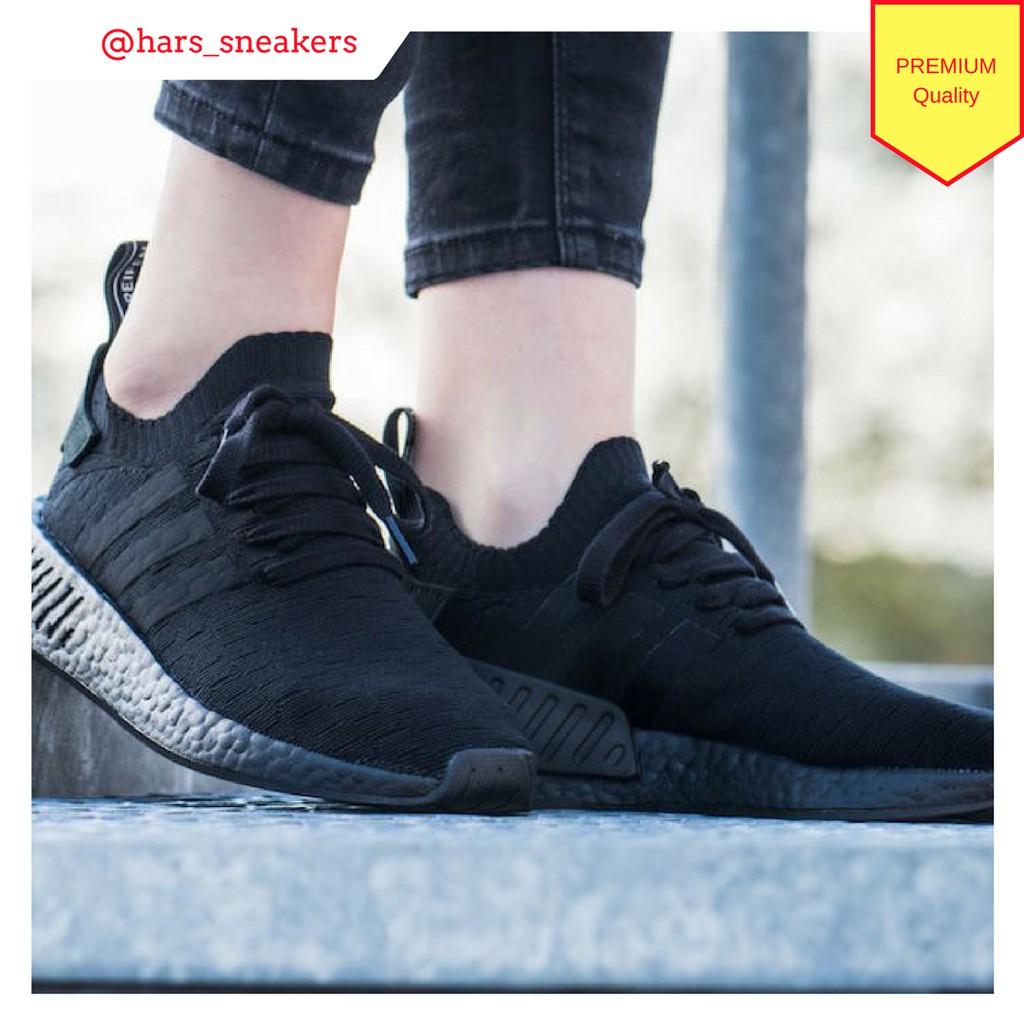 425bacb97 Sepatu Adidas NMD R2 Triple Black Premium Quality