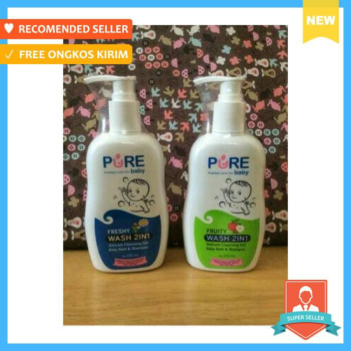 Pure Baby Wash 2In1 Shampoo And Body 230Ml - Perlengkapan Mandi Bayi - Sabun Bayi