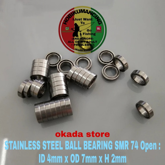 Stainless Steel Ball Bearing Smr 74 Open : Id 4Mm X Od 7Mm X H 2Mm