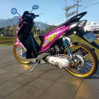 Sticker Striping Honda Beat Karbu Motif Icon Thailook