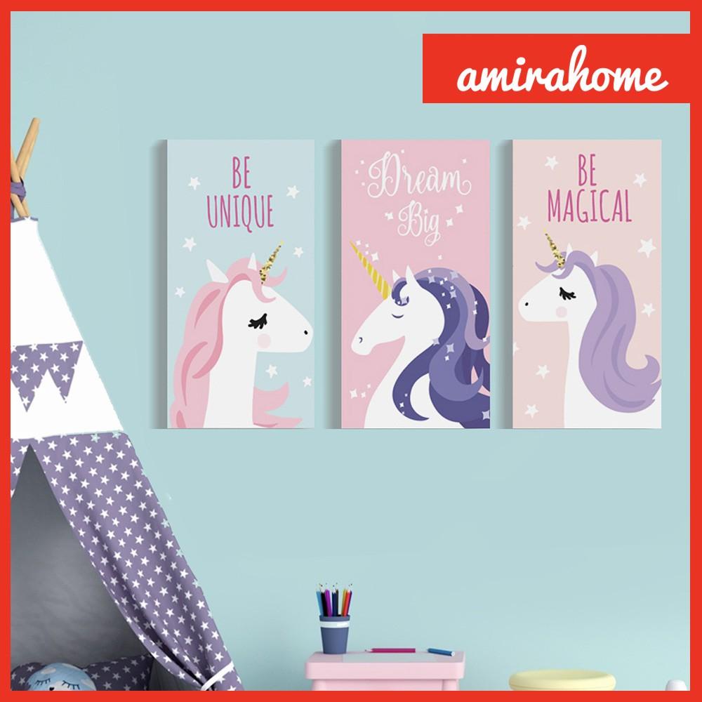 Dekorasi Tema Unicorn Kamar Anak dekor Hiasan Dinding ...