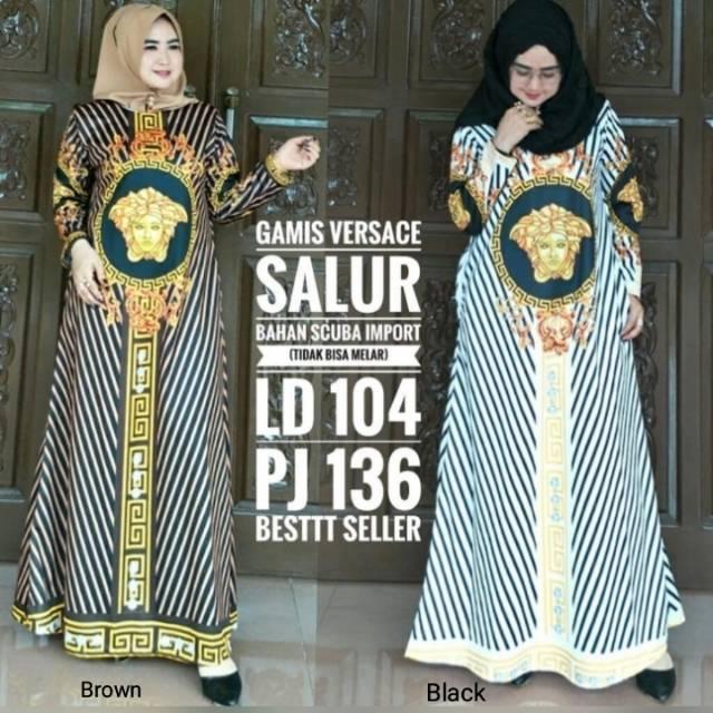 Gamis Versace Temukan Harga Dan Penawaran Dress Muslim Online