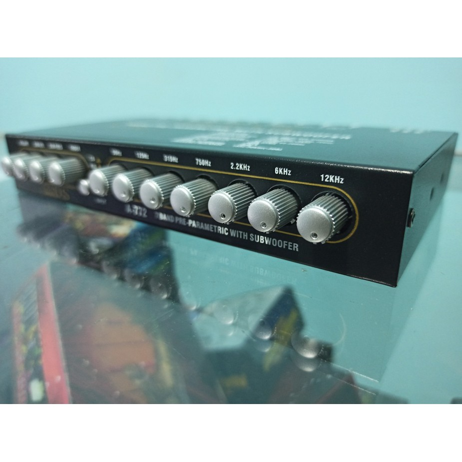 EQUALIZER preamp 7band parametric with subwoofer audio MOBIL ADS A772