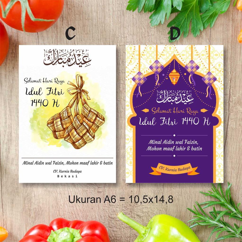 Kartu Ucapan Label Hang Tag Selamat Hari Raya Idul Fitri Ukuran
