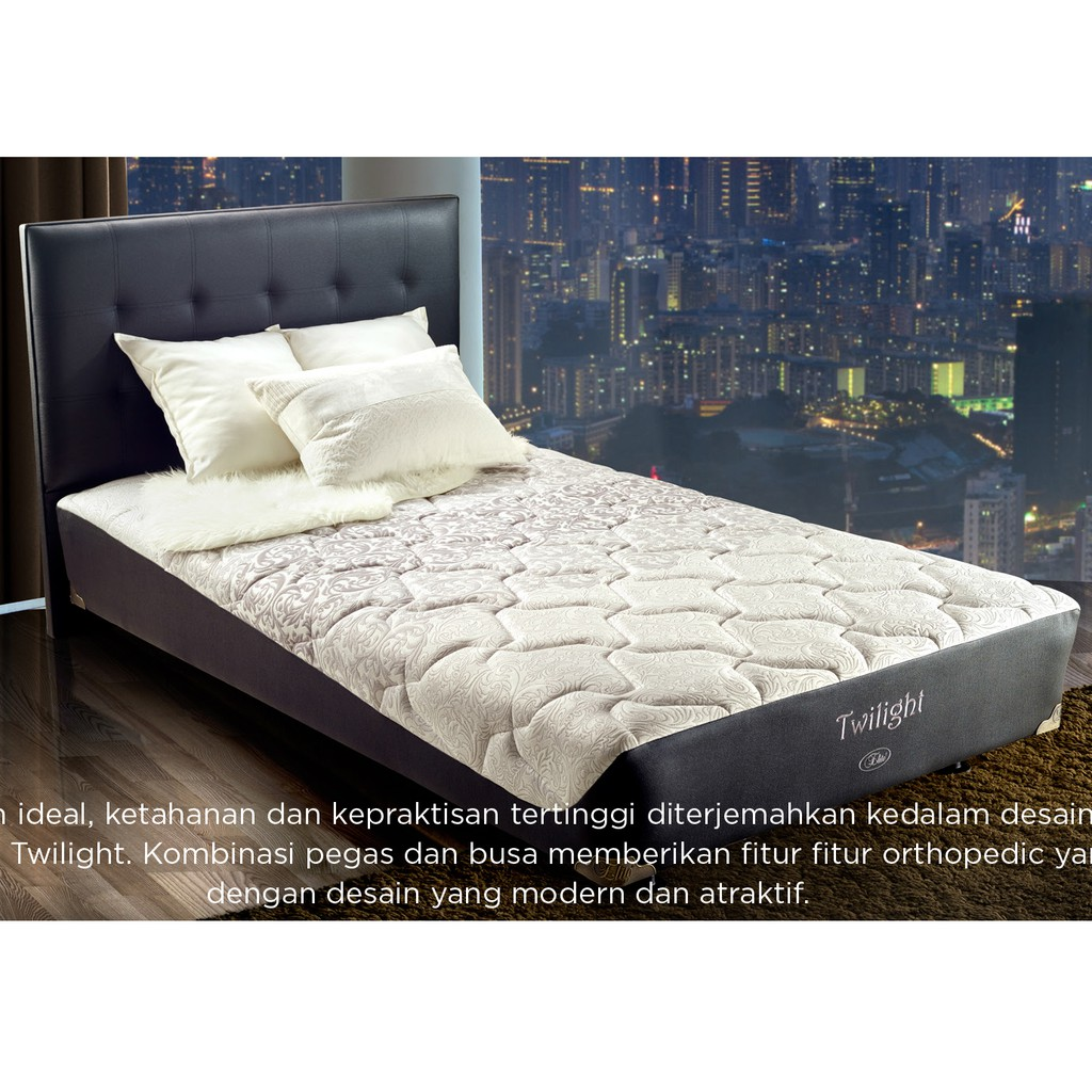 Uniland Paradise Plush Top Komplit Set 160x200 Shopee Indonesia Kasur Box Magnolia 120x200 Tanpa Divan Sandaran Jadebotabek Only