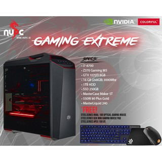 RAKITAN PC GAMING BLACKOUT EXTREME RYZEN 7 2700 | Shopee