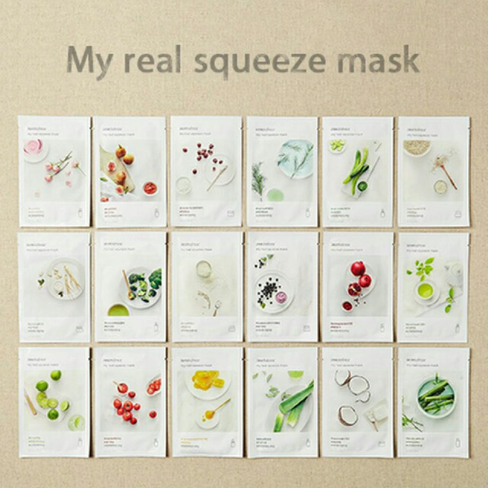 1st Hand Import New Innisfree My Real Squeeze Mask Sheet Shopee Its Bija 20ml Indonesia