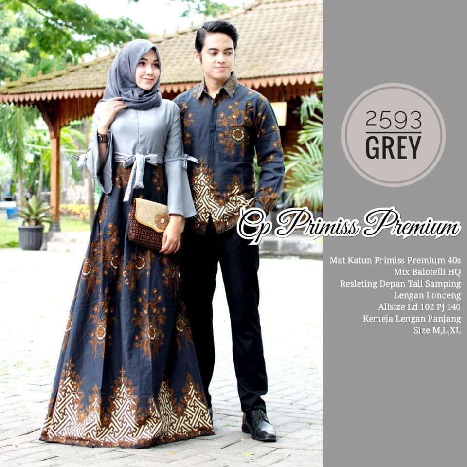Model Baju Gamis Batik Couple 8 Terbaru