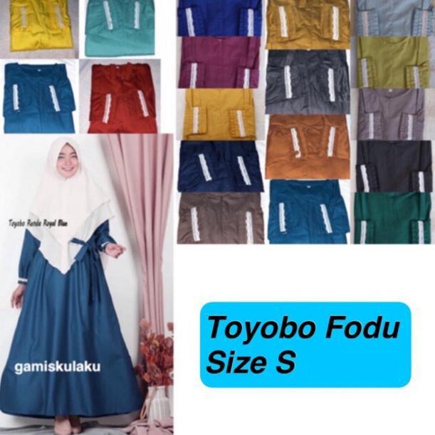 Termurah Gamis Toyobo Fodu Lengan Renda Size S Shopee Indonesia