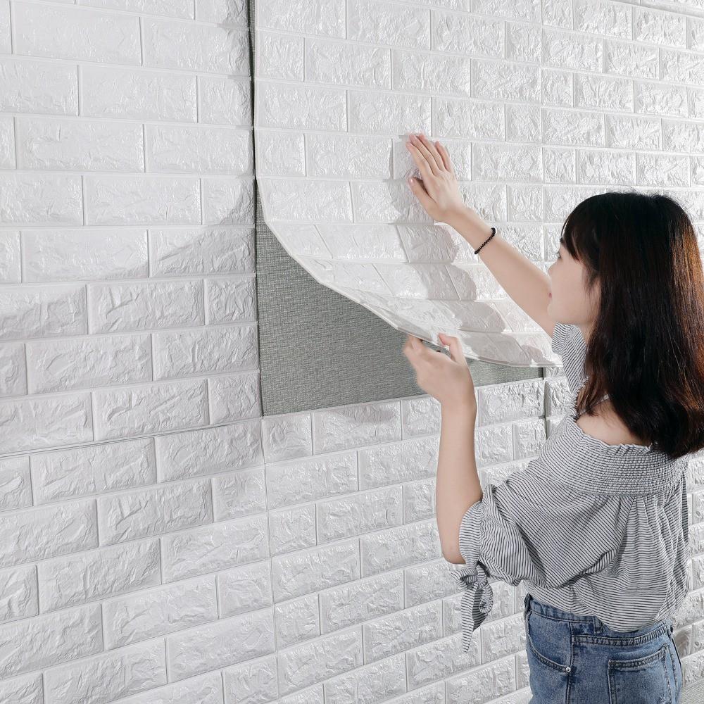 Ready Stock Grosir Wallpaper 3D Foam Model Batu Bata Wallpaper Murah
