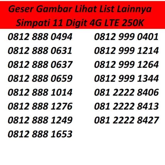 SERI SUPER SIMPATI 4G Kartu Perdana Nomor Cantik Nomer Nocan Murah   Shopee Indonesia