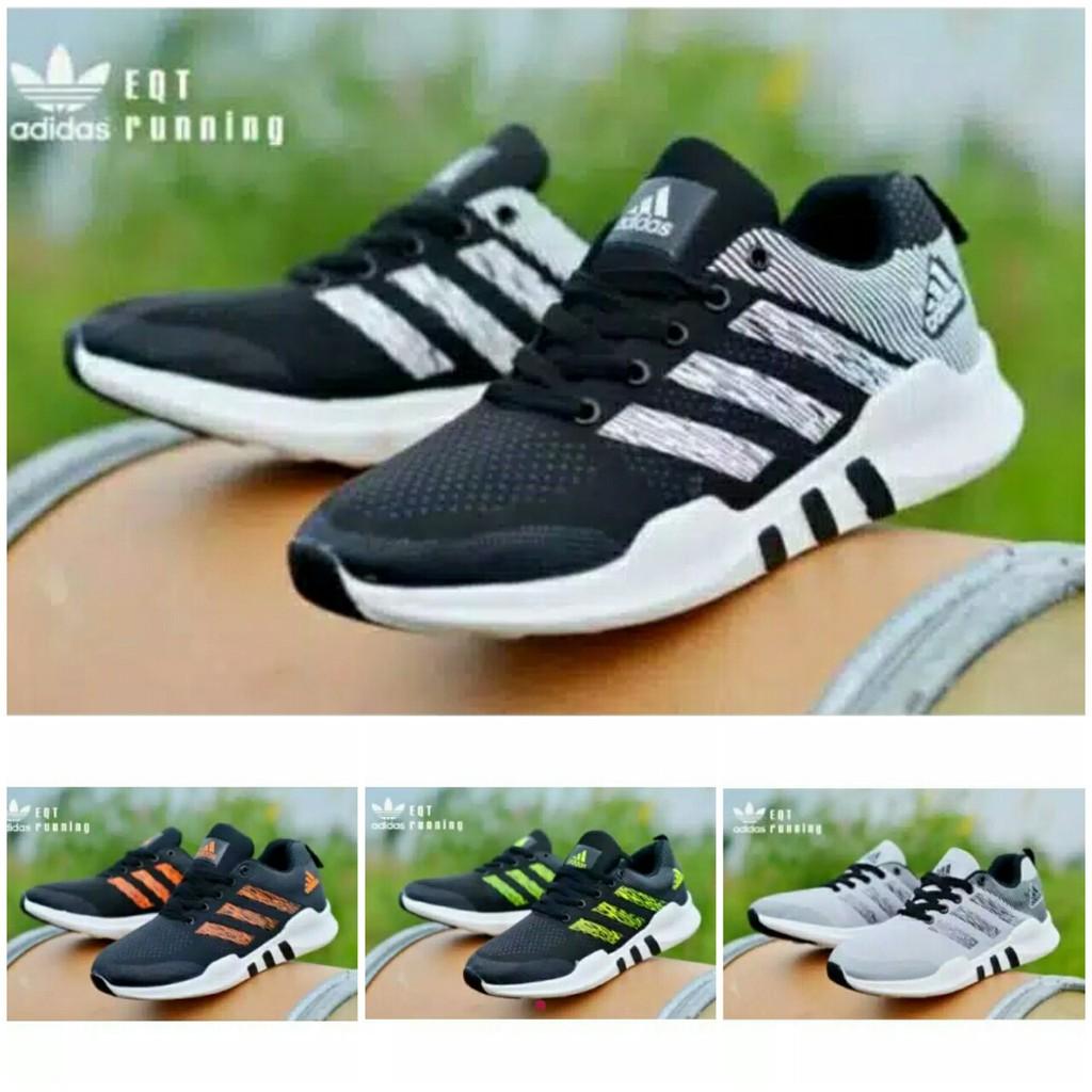 Sepatu Kets Adidas EQT Running Hitam Orange  f4caa82ff9