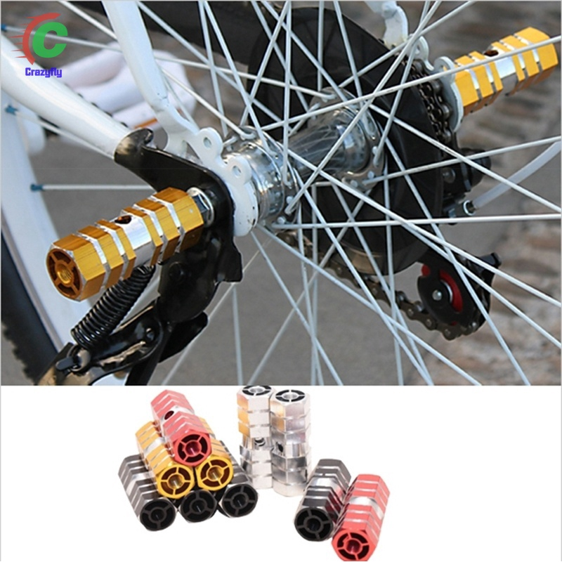 2 PCS Axle Alloy Foot Pegs Stunt Pedal for Cycling for BMX Mountain Bike Bicycle