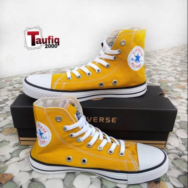 Sepatu Converse All Star Kuning Tinggi Boot The Best Quality