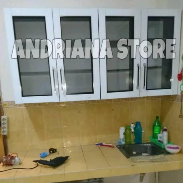 Lemari Gantung Dapur 4 Pintu Full Kaca Shopee Indonesia