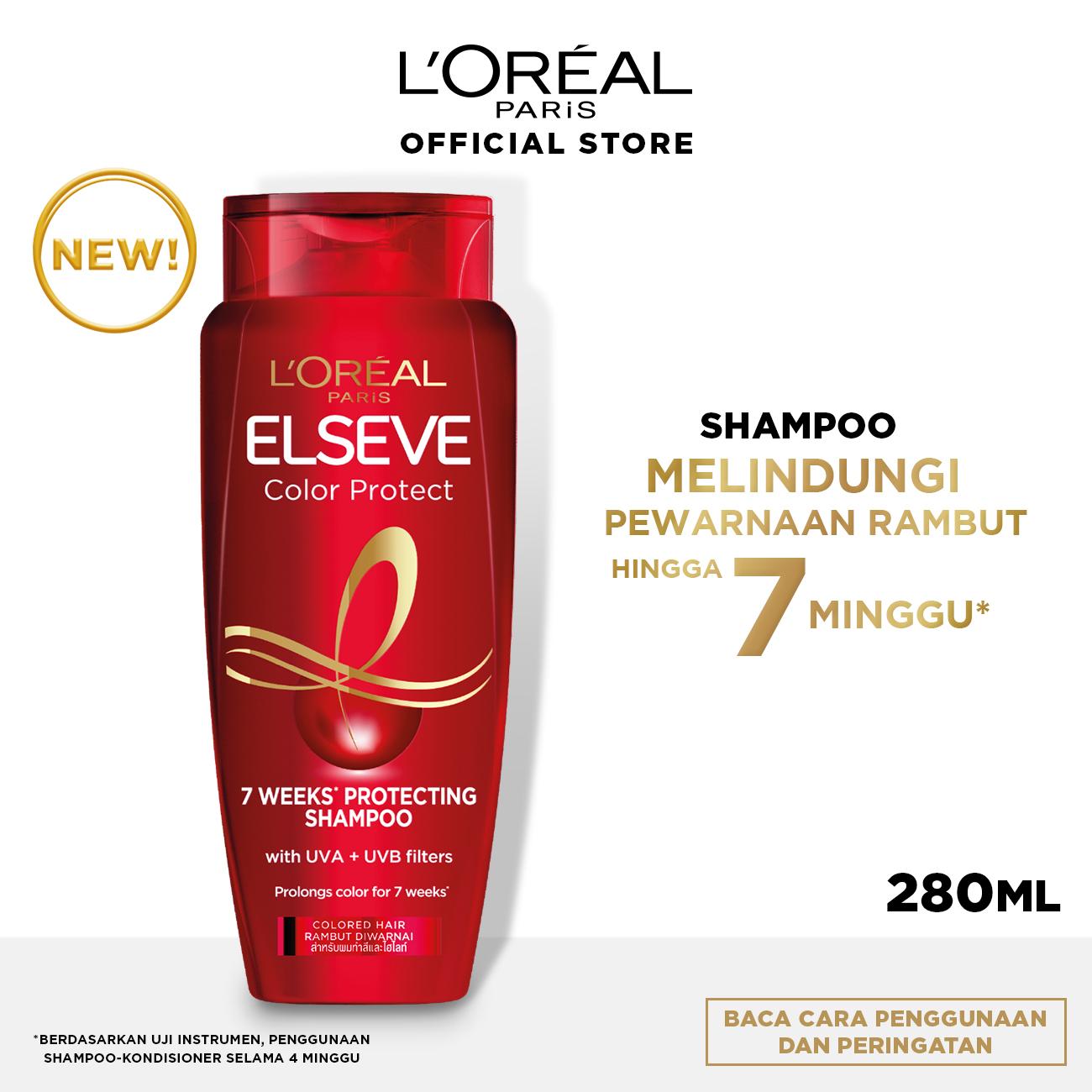 L'Oreal Paris Color Vive Protecting Shampoo Hair Care - 280 ml (Perawatan Rambut Setelah Diwarnai)