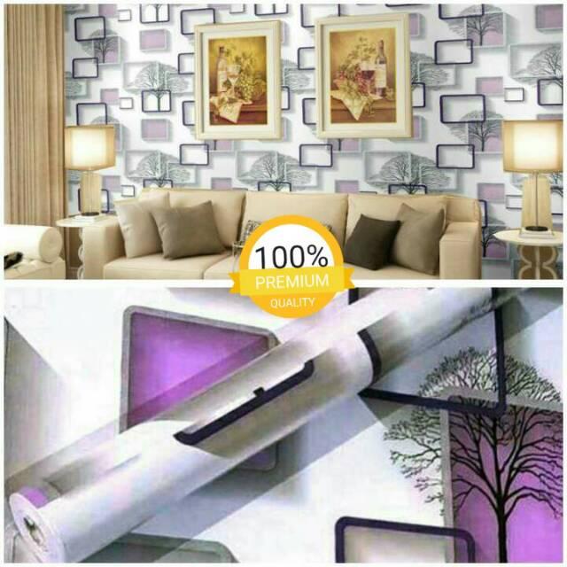 Grosir Murah Wallpaper Stiker Dinding Motif Kotak Paduan Warna Putih Dan Ungu Bagus Untuk Ruang Tamu Shopee Indonesia