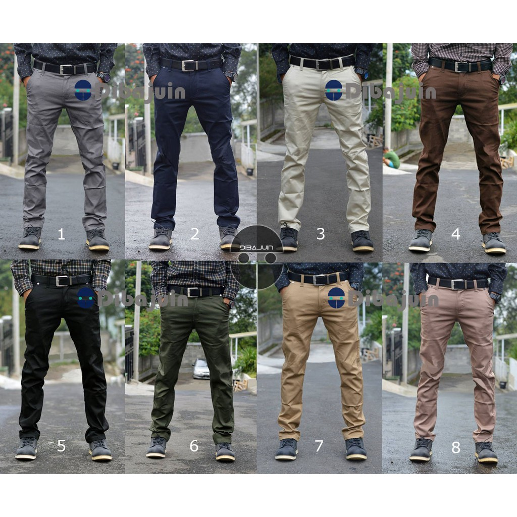 Celana Pria chino panjang Best seller / Cod / bayar di tempat celana chino panjang slim | Shopee Indonesia