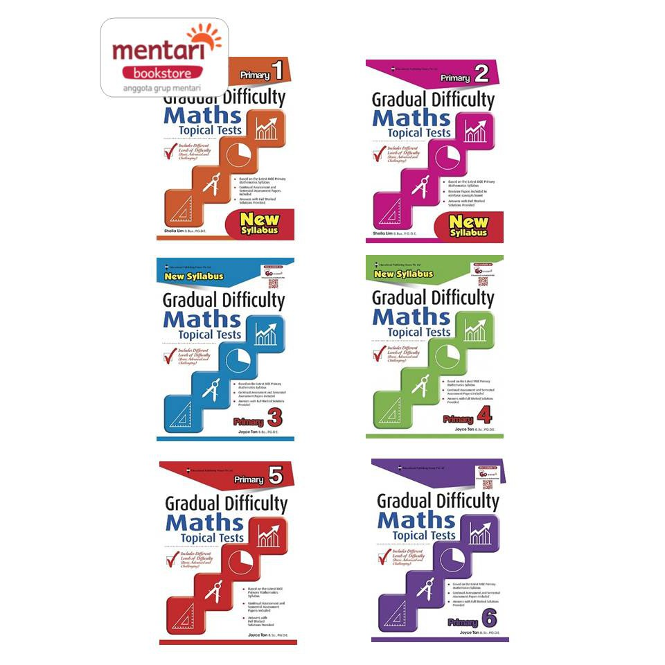 Gradual Difficulty Maths Topical Tests Buku Pelajaran Matematika Sd Shopee Indonesia