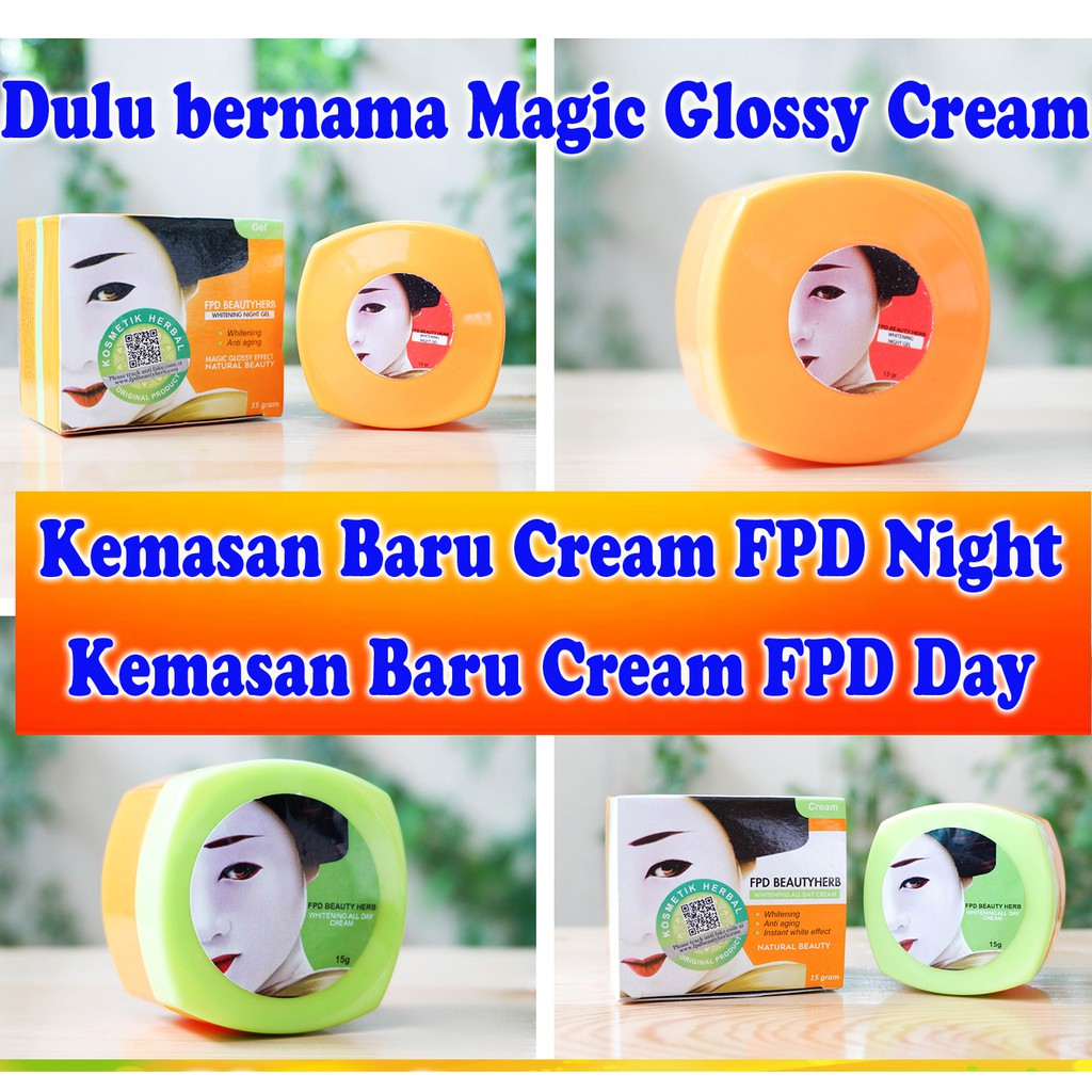 Paket Magic Glossy Cream Extra Whitening - Krim Pagi dan Gel Malam - Paket FPD - Original | Shopee Indonesia