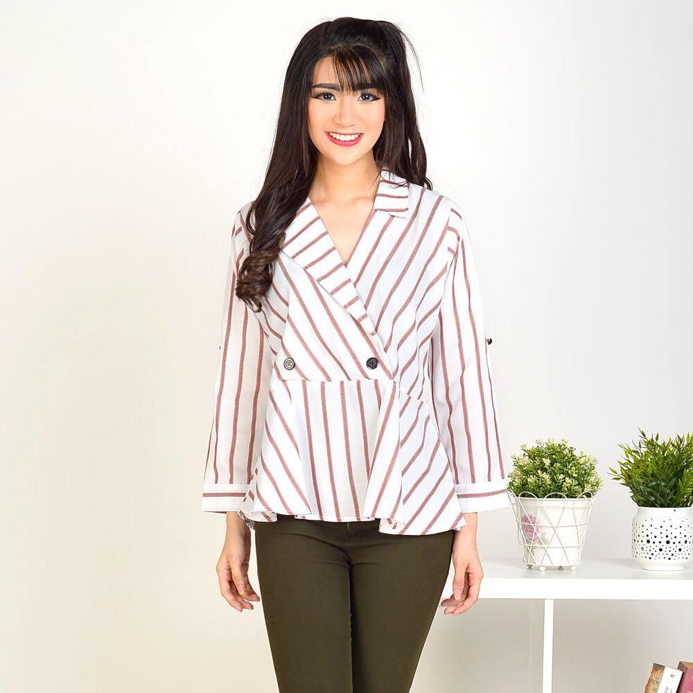 Top Knit Murah Baju Bangkok Terbaru Berkualitas Blouse Rajut Hand Leaves  3d18cc96f0