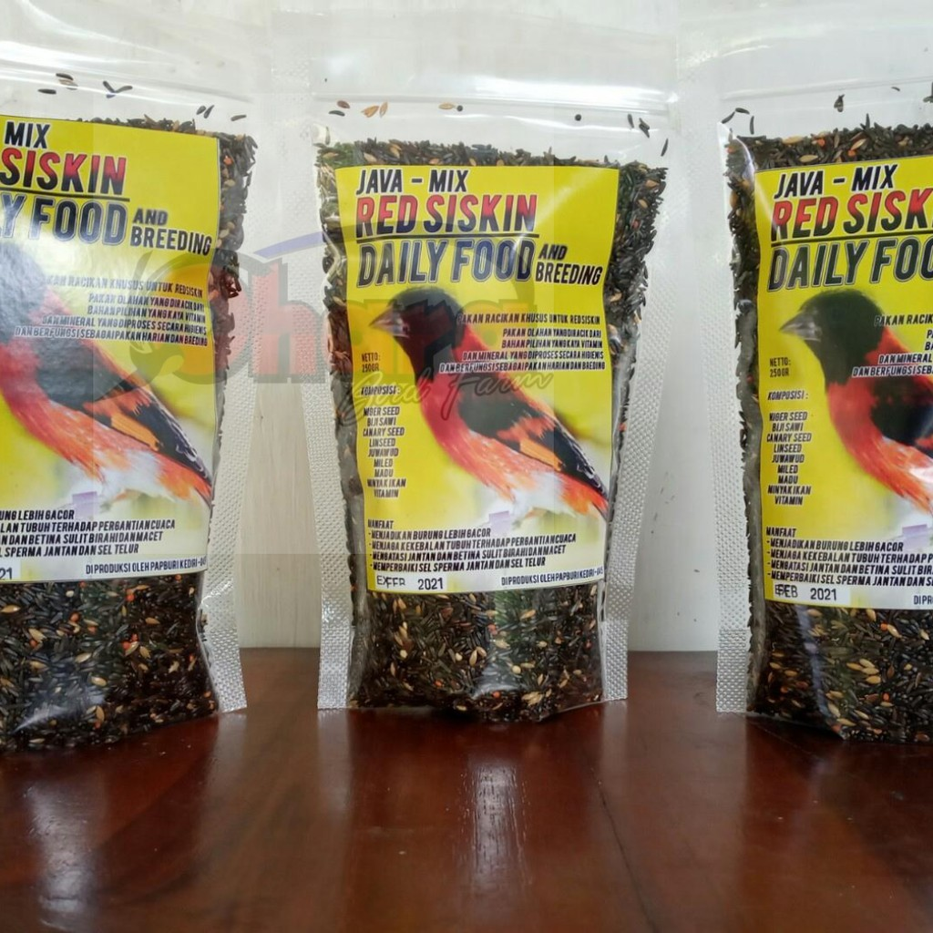 Pakan Red Siskin Food Daily And Breeding Red Siskin Shopee Indonesia