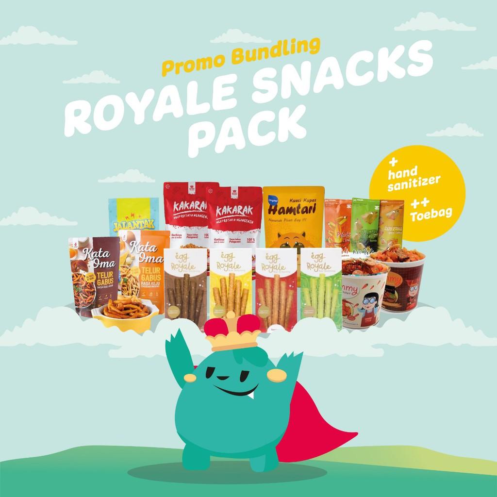 Paket Egg Royale Snacks Pack Kue Semprong 89gr Bonus 6 Camilan lainnya Total 7pcs Snacks