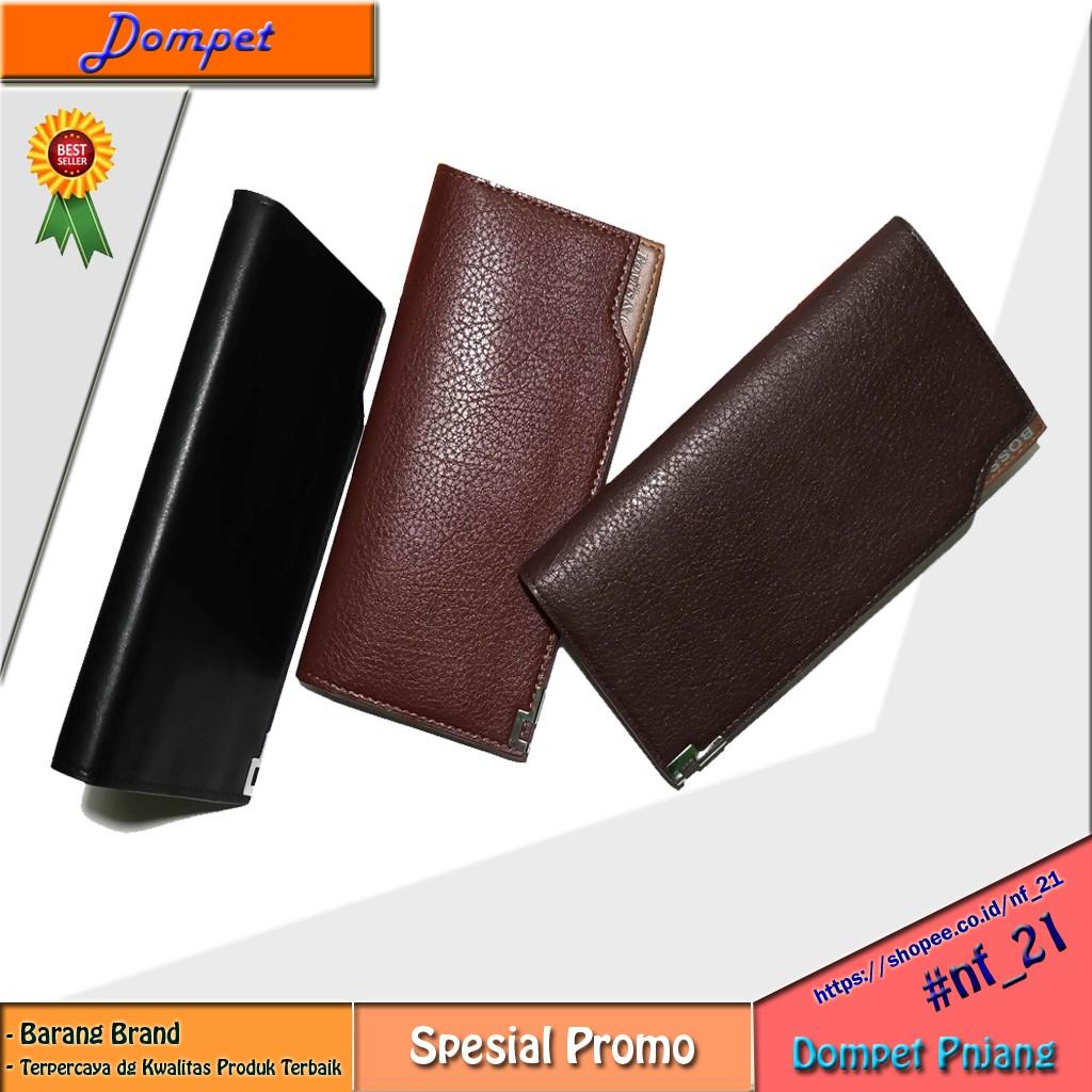 Dompet kulit pria asli murah banyak kartu dompet 3 4 dompet lipat hitam  polos  garut  03f6c16c4d