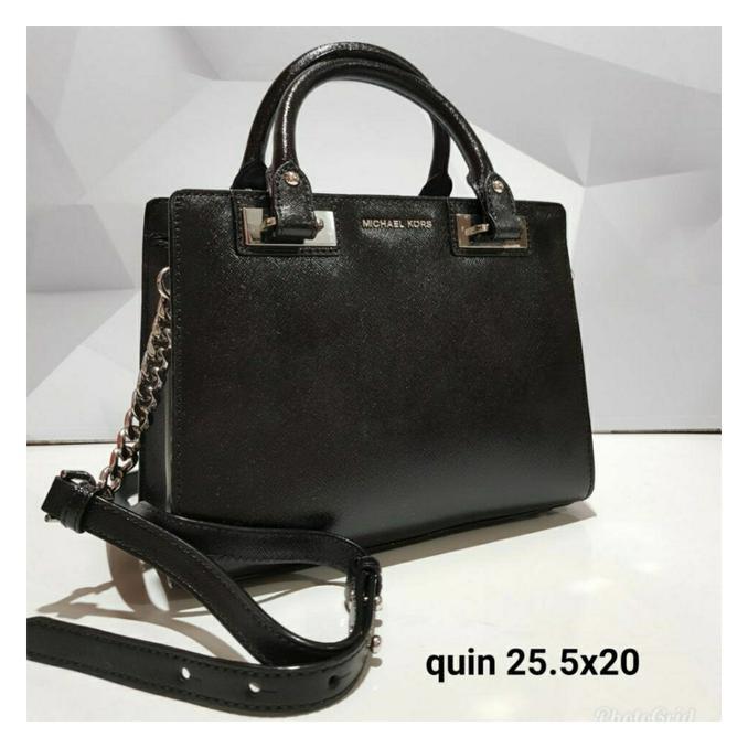 30aab7c7f95f harga TAS MICHAEL KORS ORIGINAL - MK QUINN SATCHEL BLACK original barang  terbatas langka   Shopee Indonesia